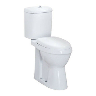 White Doc M Disabled Bathroom Close Coupled WC Toilet High Rise Pan Ceramic