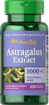 ASTRAGALUS EXTRACT 1000MG 100 SOFTGELS PURITANS PRIDE 24hr DISPATCH