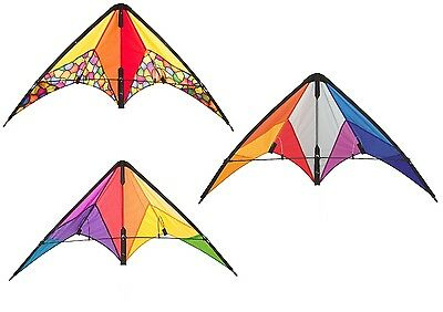 HQ Calypso 2 Beginner Stunt Kite Assorted Colours Rainbow Radical Or Dazzling