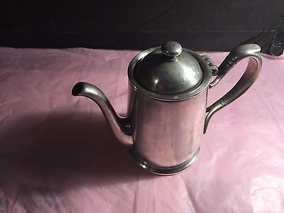 IS international silver co silver soldered Silver Vintage Teapot
