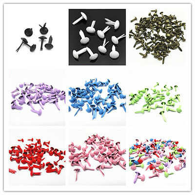 500pcs 5x9mm Round Brads Mini Metal Bras For Stamping Embellishments Stamping