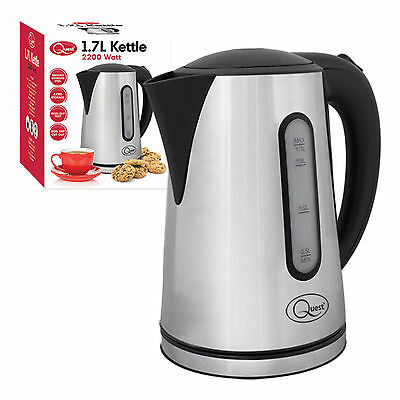 1.7 Litre Brushed Stainless Steel Cordless Electric Jug Kettle