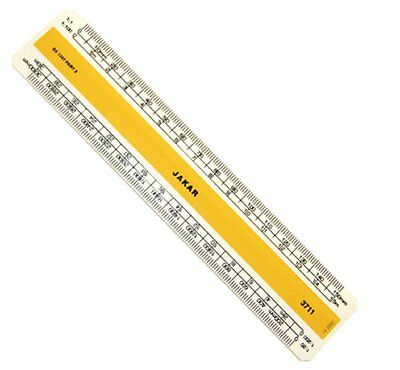 "Scale Ruler Metric Plastic Flat Acrylic Rule Draughtsmens Technical Ruler 6""/12"""