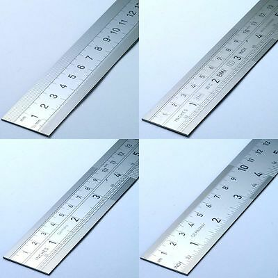 Steel Ruler High Quality German Precision Markings CM MM Inches 16ths/32nds/64th