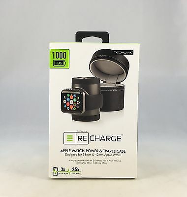 Techlink Recharge Portable Charger &Travel Case for Apple Watch 38mm/42mm ppp883