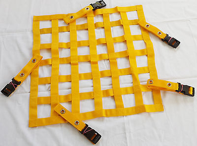 46x66 cm Yellow Race Safety Accessories Car/Rally/Racing/Motorsport Window Net