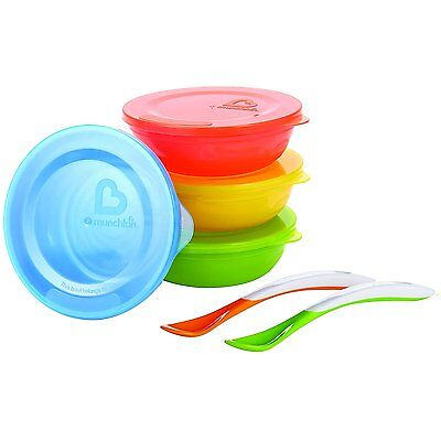 Munchkin Love a Bowls Baby Weaning Feeding Food Storage 10 Piece Set