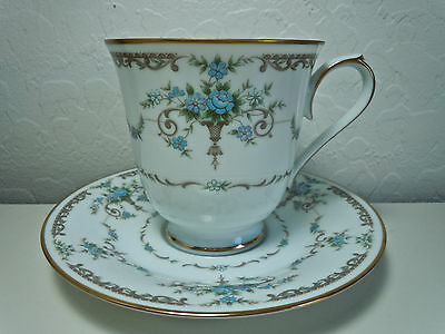 Noritake Cotillion Cup and Saucer Set Footed
