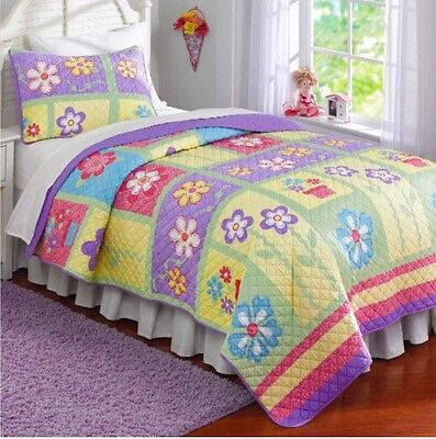 Laura Hart Kids Collection 2 Pc Twin Quilt & Sham Set ~ Sweet Helena ~ New!!
