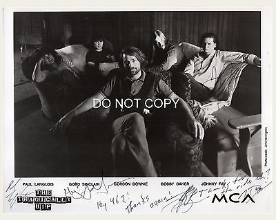 """The Tragically Hip band Reprint Signed 8x10"""" Photo RP #2 w/ Gord Downie"""