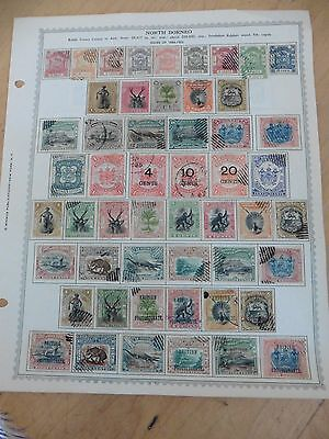 D87 North Borneo stamps Minkus page 1886-1905 1901-22 fiscal arms lion animals