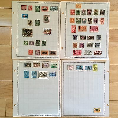 E4 Panama Stamps 1887-1990 hinge pages Colombia Republic Overprint Bolivar loose