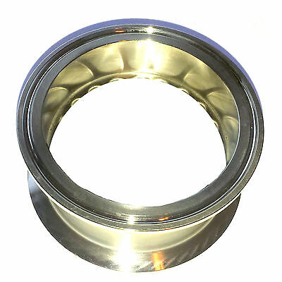 "HFS 2"" Sanitary Tri Clamp Clover Spool Pipe - 2"" Length 304 Stainless Steel"