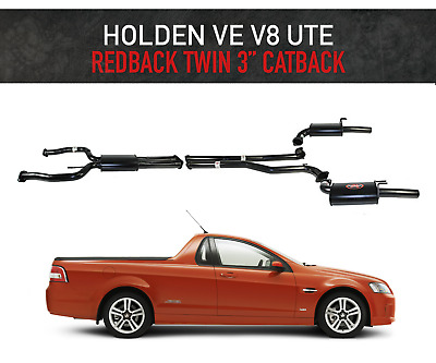 "Holden Commodore Ve V8 Redback Exhaust System 3"" Inch Cat Back For Ute"
