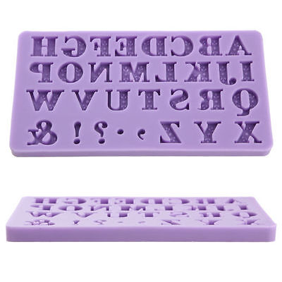 3D Alphabet Letter Fondant Cake Chocolate Sugarcraft Mold Cutter Silicone Tool