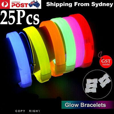 New 25X Mixed Colour Glow Sticks Bracelets Light Party Glowsticks in the Dark