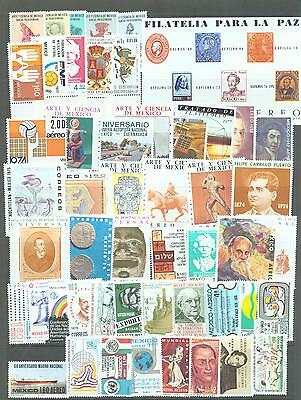 Mexico collection 1971-1985 all in complete sets 250 stamps and 2 min sheets MNH
