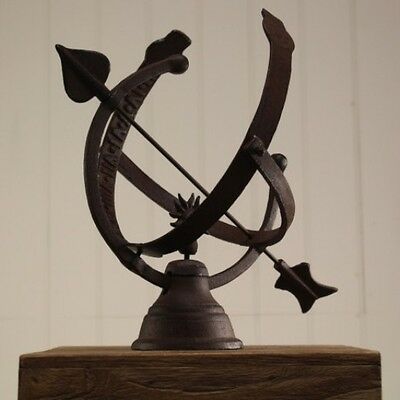 Cast Iron Armillary Sphere Sundial with Roman Numerals by Fallen Fruits