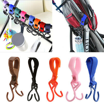 Colorful Baby Pram Pushchair Buggy Handle Bar Bag Hook Clip Bottole Hanger