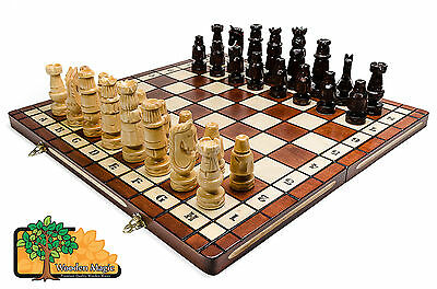 KNIGHT SET - Large 54cm / 21.5in Handcrafted Artistic Wooden Chess Set