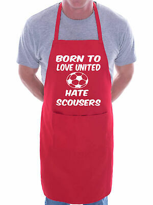 Love Man Utd Hate Scousers BBQ Cooking Funny Novelty Apron