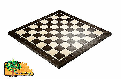 WENGE CHESS BOARD No.4+ With Notation - 44cm / 17.3in Professional Wooden