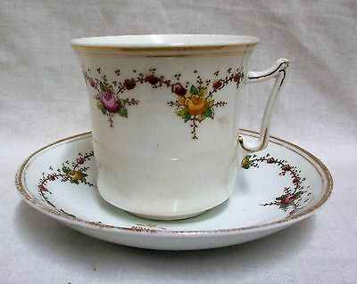 Vintage C & E Victoria Roses & Garland Tea Cup & Saucer