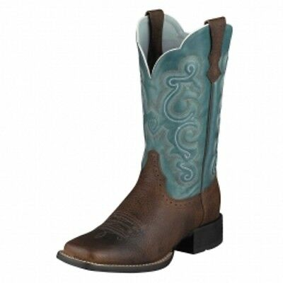 Ariat Wms Quickdraw Westernstiefel brown oiled rowdy/ saphire blue