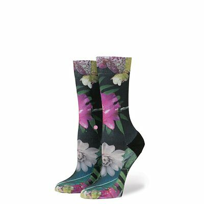 NEW Womens Stance Tropic Fever Tomboy Light Socks in Black Size Small (5-7.5)