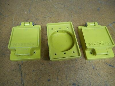 Woodhead 70-5700 70-5692 Receptacle Covers New Old Stock (Lot of 3)
