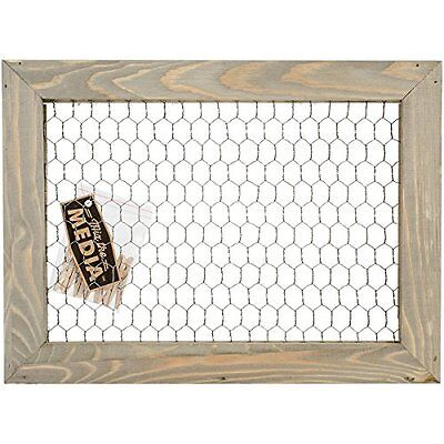 Hampton Art Framed Chicken Wire with Six Clothespins
