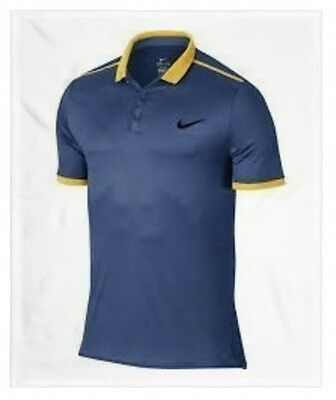 Men's Nike Court Advantage Colordry Tennis Polo Shirt Size XL 728947 404 NWT