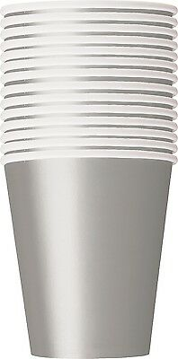 Silver 270ml Paper Party | Celebration | Anniversary Cups 1-84pk