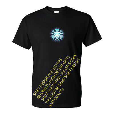 Iron Man Tony Stark Arc Reactor Superhero T-Shirt (S-5XL)  NEW Ready to ship!