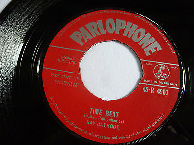 "Ray Cathode ~ Time Beat ~ 45 R 4901 ~ Vg+/vg+ ~ Rare 1962 Uk 7"" Vinyl Single"