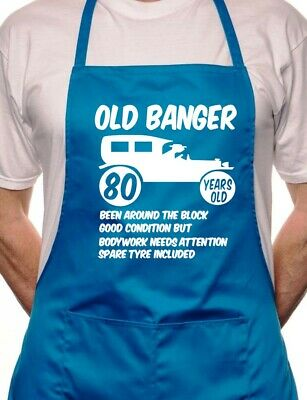 80th Birthday Old Banger BBQ Cooking Funny Novelty Apron