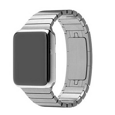 Silver Stainless Steel Magnetic Loop Watch Strap Bands Watchband For Iwatch 38mm
