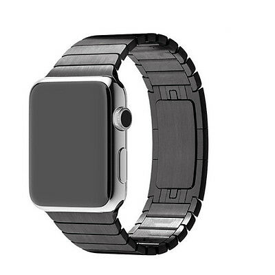 Black Stainless Steel Magnetic Loop Watch Strap Bands Watchband For Iwatch 42mm