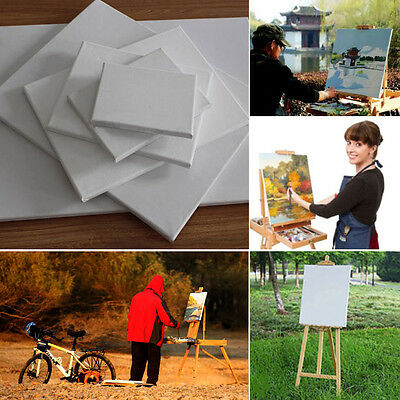 Stretched Blank Drawing Canvas Art Wood Frame Artist Painting Draw 5 size chioce