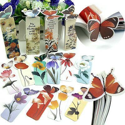 10Pcs Butterfly Shape Exquisite Mini Bookmarks Stationery Reading Accessories