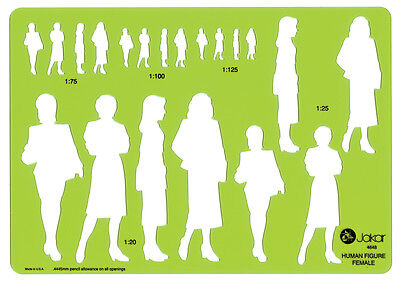 Jakar Template Female Human Figure Shadow People Stencil Standing Fashion 4648