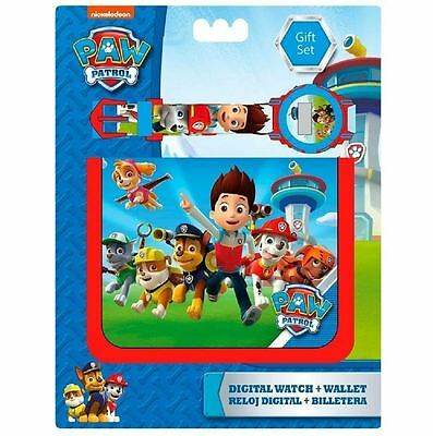Officially Licensed | DISNEY | Childrens Watch & Wallet Gift Set | PAW PATROL
