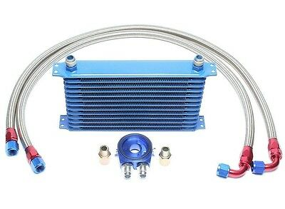 Ta Technix Aluminium Oil Cooler Kit, Set + 2 Steel Flex Lines, 12 Row Rib