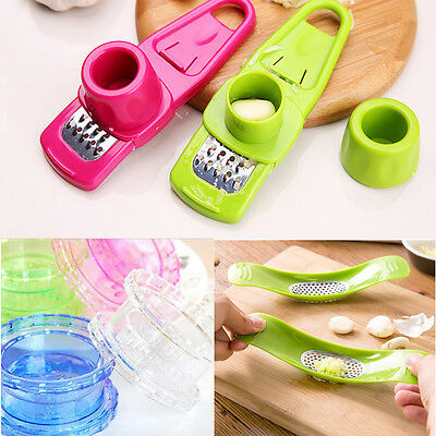 New Novelty Multi-functional Grinding Kitchen Garlic Press Cooking Tools