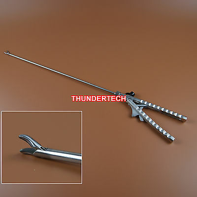 5mmX330mm Curved Tip Needle Holder V Style Laparoscopy Laparoscopic Endoscopy
