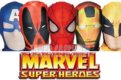 Morphmask MARVEL Superhero Mask Licenced Masks Fancy Dress Costume by Morphsuit