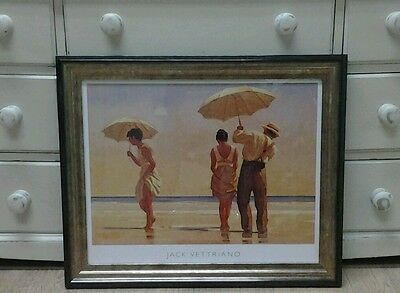 Mad Dogs........ by Jack Vettriano Large Deluxe Framed Art Print Romantic