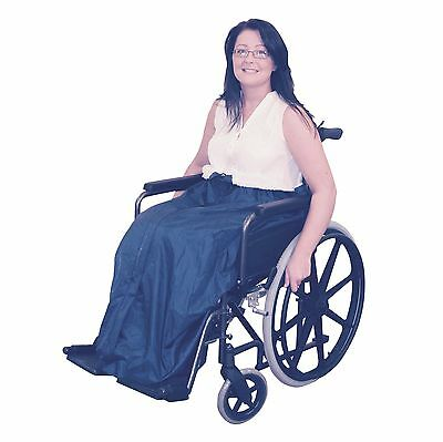 Waterproof fleece lined wheelchair cozy leg cover
