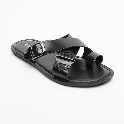 Lucini Mens Casual Walking Genuine Leather Sandals Slipper Summer Beach Shoes