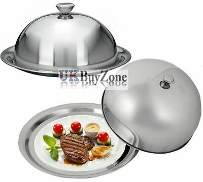 Food Cover Dome Plate Restaurant Stainless Steel Cloche Serving Dish Bell Jar